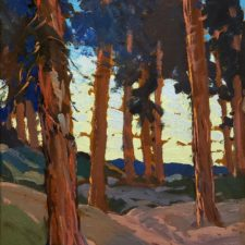 """American Legacy Fine Arts presents """"Mountain Pines"""" a painting by Hanson Duvall Puthuff."""