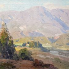 """American Legacy Fine Arts presents """"Near La Canada"""" a painting by Hansen Duvall Puthuff."""