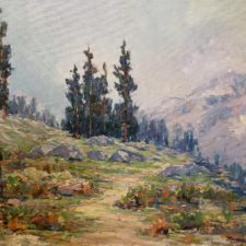 """American Legacy Fine Arts presents """"Mountain Landscape"""" a painting by Jack Wilkinson Smith."""