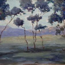 "American Legacy Fine Arts presents ""Eucalyptus Landscape"" a painting by John Marshall Gamble."