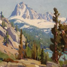 """American Legacy Fine Arts presents """"Untitled (Snow-capped Mountians)"""" a painting by Marion Kavanagh Wachtel."""