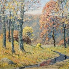 """American Legacy Fine Arts presents """"Autumn Colors"""" a painting by Maurice Braun."""