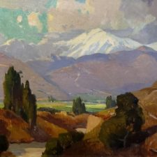 """American Legacy Fine Arts presents """"Untitled (Mountain Landscape)"""" a painting by Orrin Augustine White"""