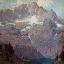 """American Legacy Fine Arts presents """"High in the Sierras c. 1921"""" a painting by Edgar Alwin Payne."""