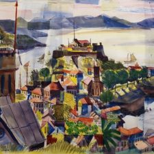 """American Legacy Fine Arts presents """"Port c. 1949"""" a painting by Phillip Herschel Paradise."""