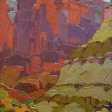 """American Legacy Fine Arts presents """"Canyon Walls"""" a painting by Sam Hyde Harris"""