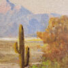 "American Legacy Fine Arts presents ""Untitled (Desert Scene, Palm Desert)"" a painting by George Bickerstaff."