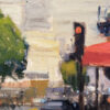 """American Legacy Fine Arts presents """"Corner of Kearny & Columbus"""" a painting by Brian Blood."""