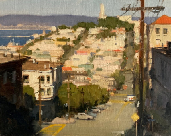 """American Legacy Fine Arts presents """"Filbert & Levenworth"""" a painting by Brian Blood."""