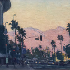"""American Legacy Fine Arts presents """"Afternoon Glow"""" a painting by Michael Obermeyer."""