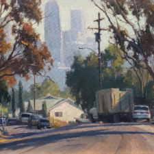"""American Legacy Fine Arts presents """"Chavez Ravine"""" a painting by Michael Obermeyer."""