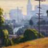 """American Legacy Fine Arts presents """"Downtown Lookout"""" a painting by Michael Obermeyer."""