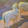 """American Legacy Fine Arts presents """"Waiting for their Shepard's Voice"""" a painting by Daniel W. Pinkham."""