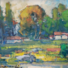 """American Legacy Fine Arts presents """"Gold Country; Columbia, CA"""" a painting by Karl Dempwolf."""