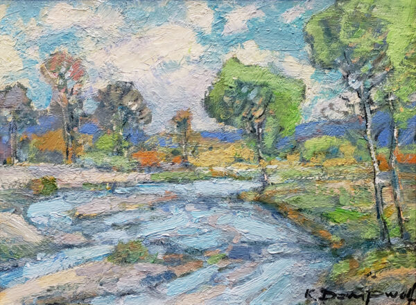 """American Legacy Fine Arts presents """"The Salinas River"""" a painting by Karl Dempwolf."""