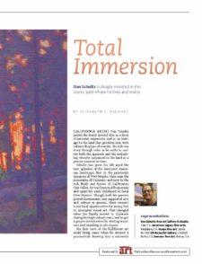 American Legacy Fine Arts presents Dan Schultz in Southwest Art Magazine, July 202 Issue.