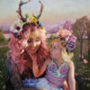 """American Legacy Fine Arts presents """"Mother and Child"""" a painting by Natalia Fabia."""