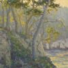 """American Legacy Fine Arts presents """"Blue Fish Cove, Point Lobos"""" a painting by Jennifer Moses."""
