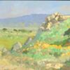 """American Legacy Fine Arts presents """"Poppy Trails of Tejon"""" a painting by Peter Adams."""