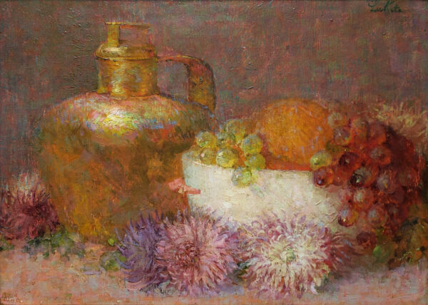 """American Legacy Fine Arts presents """"Rose and Gold"""" a painting by Theodore N. Lukits."""