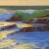 """American Legacy FIne Arts presents """"Golden Cove Breakers; Rancho Palos Verdes"""" a painting by Peter Adams."""