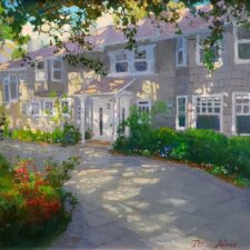 """American Legacy Fine Arts presents """"The Baker's Home"""" a painting by Peter Adams."""