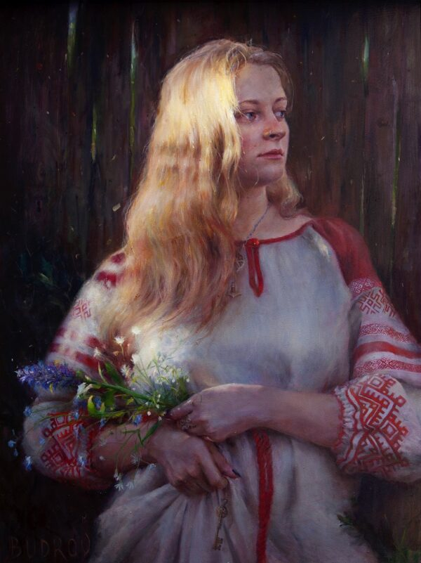 """American Legacy Fine Arts presents """"East of the Sun"""" a painting by Nikita Budkov."""