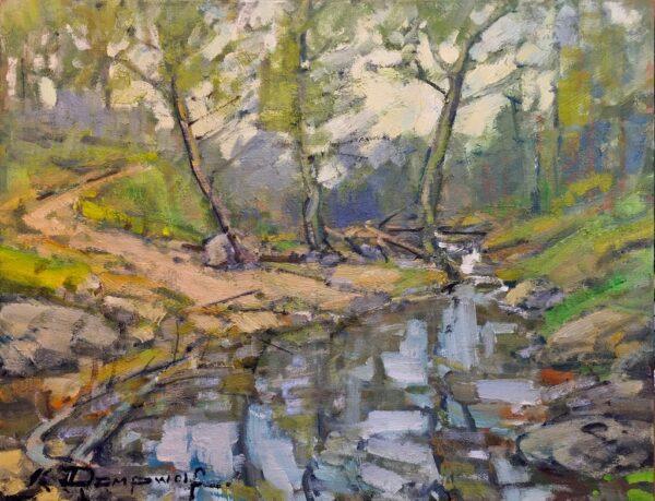 "American Legacy Fine Arts presents ""Arroyo Hondo Creek"" a painting by Karl Dempwolf."