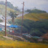 """American Legacy Fine Arts presents """"Flowers Above the Cove, Laguna Beach"""" a painting by Joseph Paquet"""