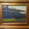 """American Legacy Fine Arts presents """"Heading for the Grandstands; Santa Anita"""" a painting by Michael Obermeyer"""