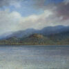 """American Legacy Fine Arts presents """"By the Healing Waters; Lake Tahoe"""" a painting by Nikita Budkov."""
