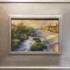 """American Legacy Fine Arts presents """"Slipping Away; The Los Angeles River"""" a painting by Nikita Budkov."""