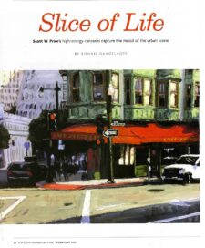 American Legacy Fine Arts presents Scott W. Prior featured in Southwest Art magazine, February 2021 issue.