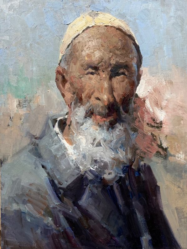 """American Legacy Fine Arts presents """"Centenarians"""" a painting by Jove Wang."""