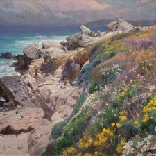 "American Legacy Fine Arts presents ""West Coast Wildfloers; Carmel"" a painting by Mian Situ."